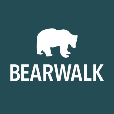 Medium bearwalk logo ko blue square